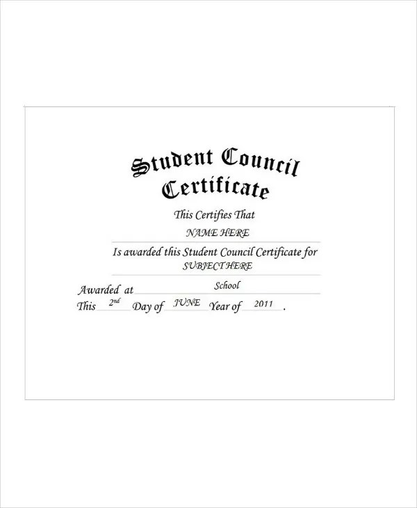 Student Award Templates - 9+ Free Word, Excel, PDF Documents
