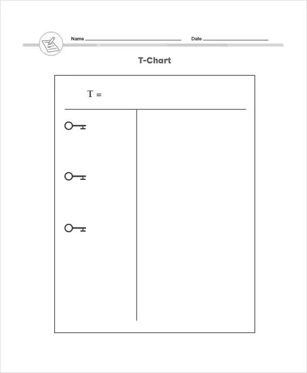 Pretty T Chart Template Pdf Images \u003e\u003e Basic Installment Loan - mood chart form