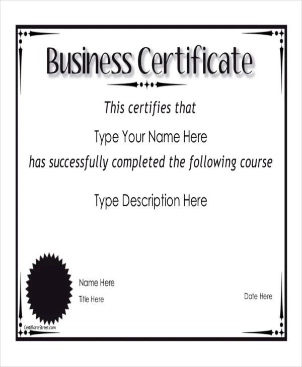 8+ Sample Certificate Templates \u2013 Free Sample, Example Format