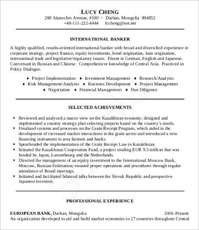 10+ Sample Job Resumes Templates - PDF, DOC Free  Premium Templates