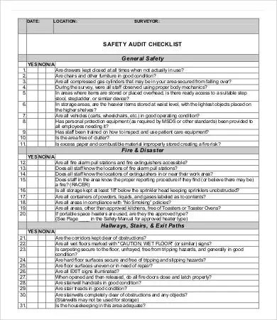 14+ Audit Checklist Templates - Free Sample, Example, Format - audit templates free