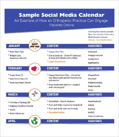 Sample Social Media Calendar Sample Content Calendar Brewery Screen