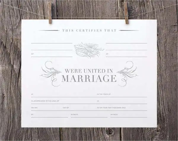 Printable Marriage Certificate Free \ Premium Templates - marriage certificate