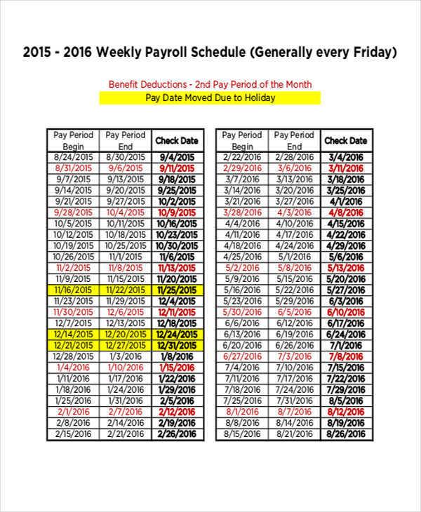 payroll schedule template - Ozilalmanoof - payroll calendar template