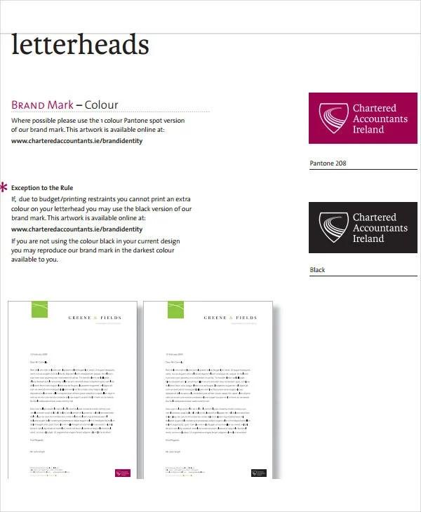 8+ Business Letterhead Formats - Word, PSD, AI Free  Premium