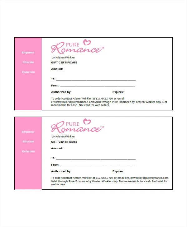 Gift Certificate Template Word - 8+ Free Word Documents Download - gift certificate word