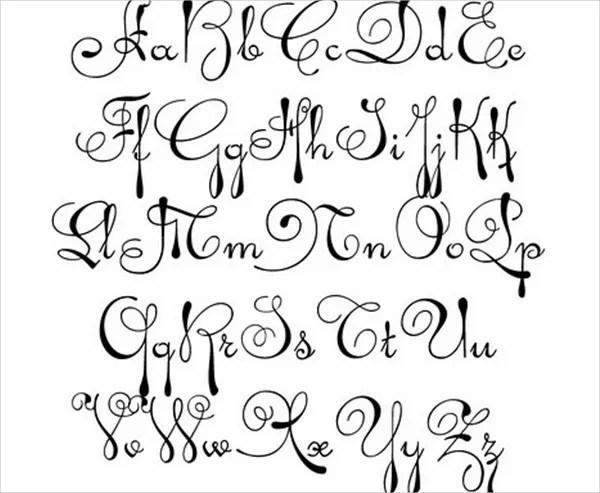 9+ Fancy Cursive Letters Free  Premium Templates - fancy cursive letters