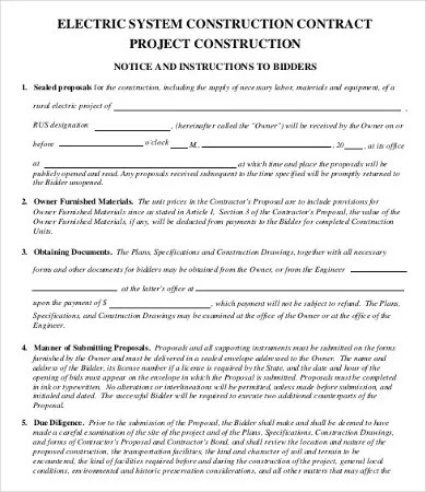 17+ Sample Construction Contract Templates - Word, Apple Pages