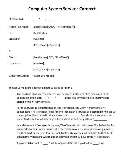 Service Contract Template - 20+ Free PDF Documents Download Free