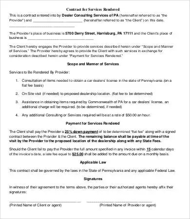 Service Contract Template - 11+ Free PDF Documents Download Free - business service contract template