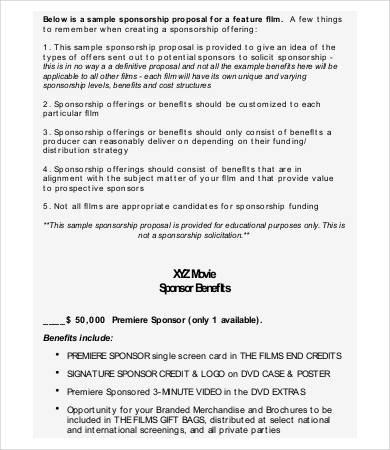 Sponsorship Proposal - 9+ Free PDF Documents Download Free - sponsorship proposal template