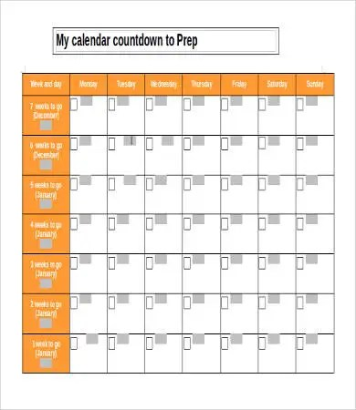 Printable Calendar Template - 10+ Free Word, PDF Documents Download