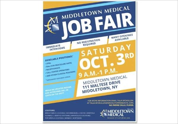job fair flyer template radiovkm - hiring flyers template