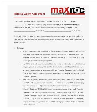 Referral Agreement Templates - 9+ Free PDF Documents Download Free