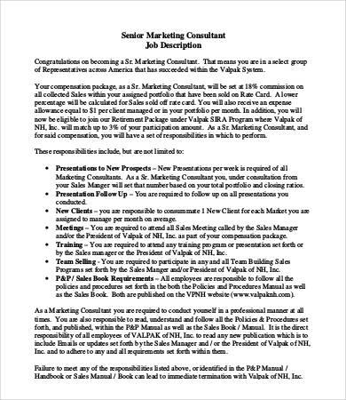 marketing executive job description marketing executive job