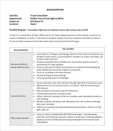 10+ Consultant Job Descriptions - PDF, DOC Free  Premium Templates