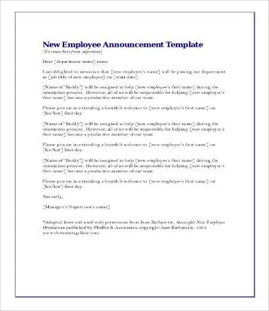 Announcement Letters - 9+ Free Word, PDF Documents Download Free - announcement template