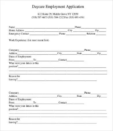 Application For Employment Form - 9+ Free Word, PDF Documents - employee application forms