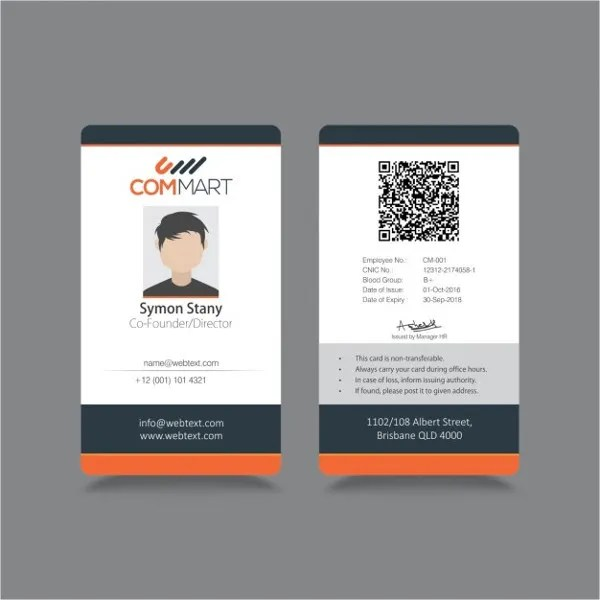Id Badge Templates - Free Sample, Example, Format Download Free - free id badge templates