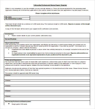 Professional Report Template Word - 9+ Free Sample, Example - professional document templates