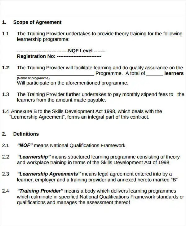 9+ Service Level Agreement Templates - Free Word, PDF Documents - it service agreement template