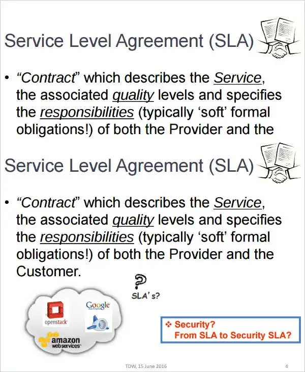 14+ Service Level Agreement Templates - Free Word, PDF Documents - service level agreement template