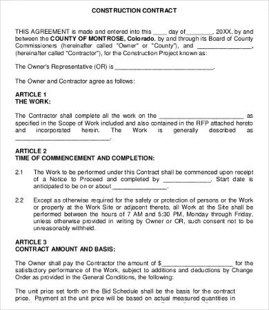 Work Agreement Template - 10+ Free Word, PDF Documents Download