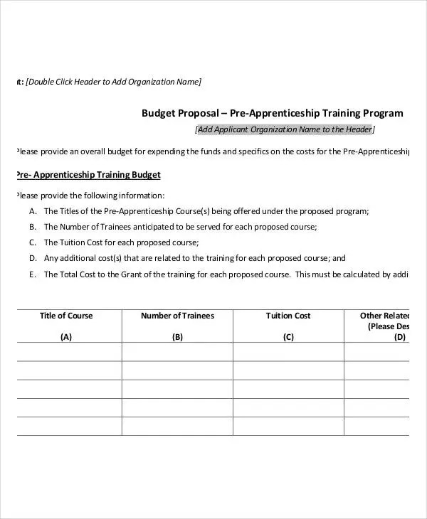 Program Budget Template - 9+ Award Certificates - Free Sample