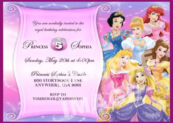 11+ Disney Invitation Designs  Templates - PSD, AI Free  Premium