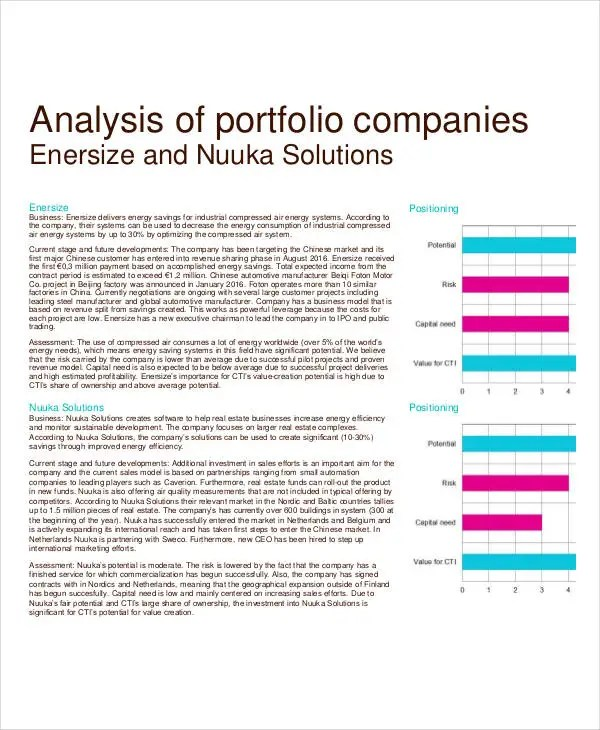Company Analysis Template - 9+ Award Certificates - Free Sample - company analysis