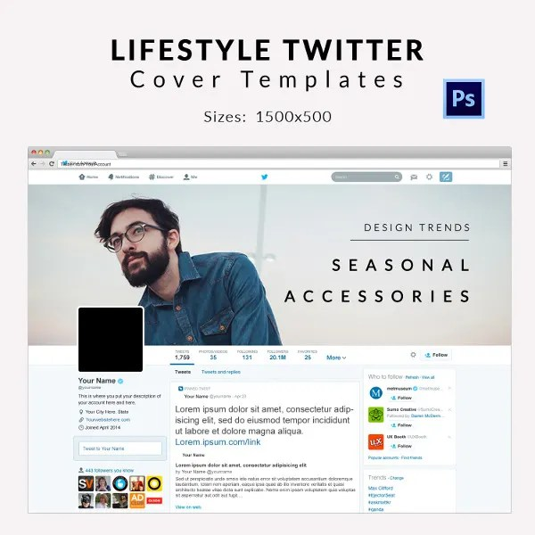 9+ Free Twitter Cover Templates - Business, Travel, Fashion Free