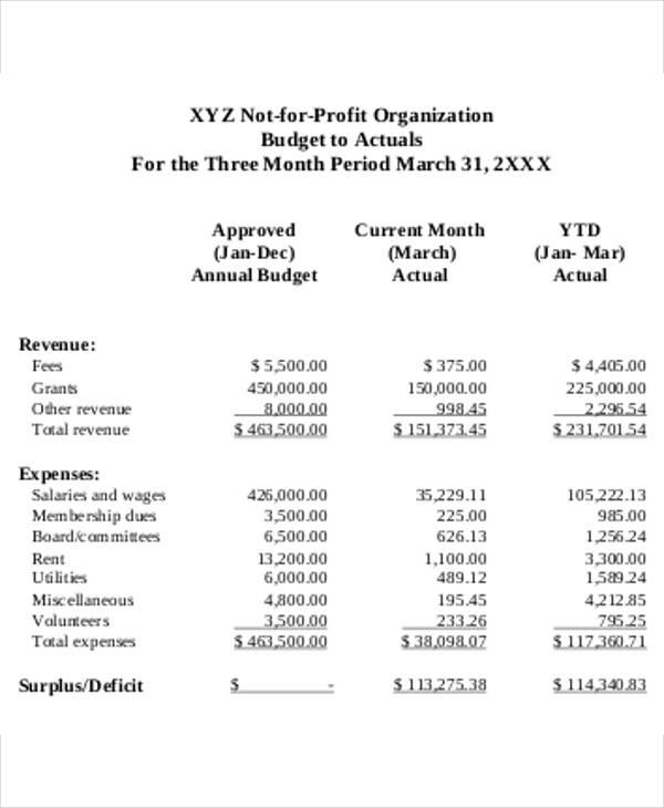 10+ Nonprofit Budget Templates - Word, PDF, Excel Free  Premium
