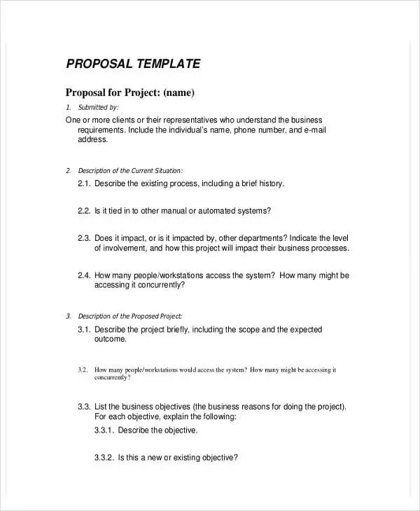 proposal for services template free