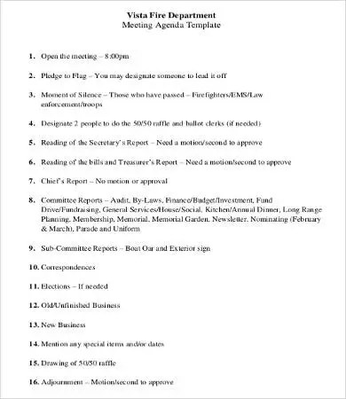 department meeting template - Roho4senses