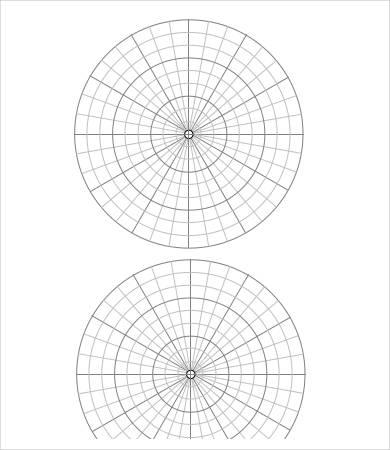 6+ Polar Graph Paper Templates - PDF Free  Premium Templates - numbered graph paper template