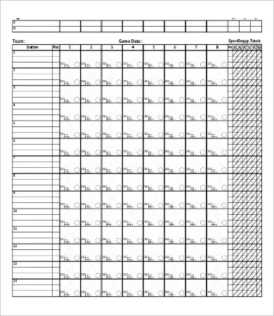 12+ Softball Score Sheet Templates - PDF, DOC Free  Premium Templates - softball score sheet template