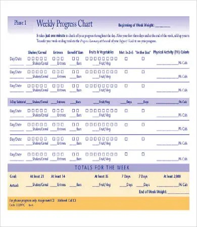 Sample Weight Loss Charts - 9+ Free PDF Documents Download Free