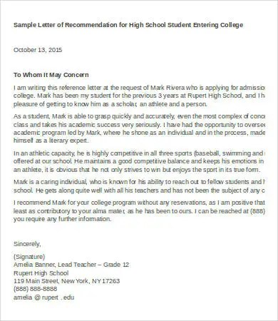Letter Of Recommendation For Teacher - 6+Free Word Documents - teacher letter of recommendation