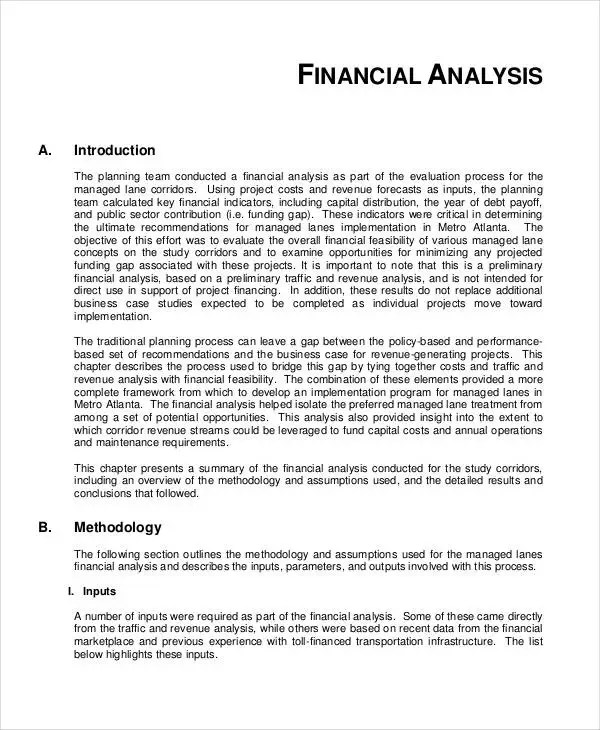 Feasibility Analysis Templates - 8+ Free Word, PDF Documents