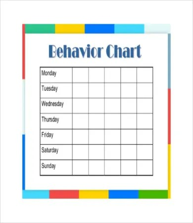 free printable behavior charts - Heartimpulsar
