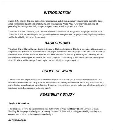 Design Proposal - 8+ Free Word, PDF Documents Download Free