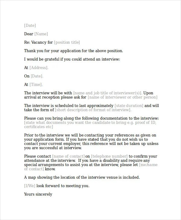 Interview Acknowledgement Letter Templates - 5+ Free Word, PDF