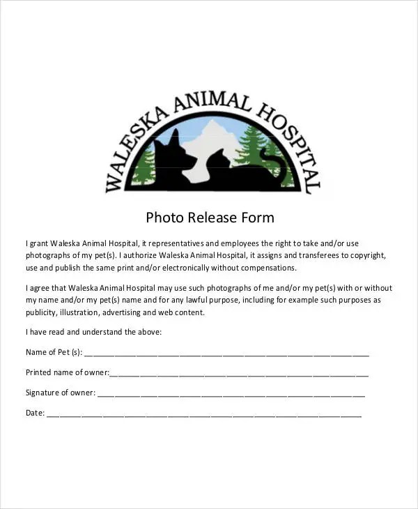 Photo Release Form Template - 9+ Free PDF Documents Download Free