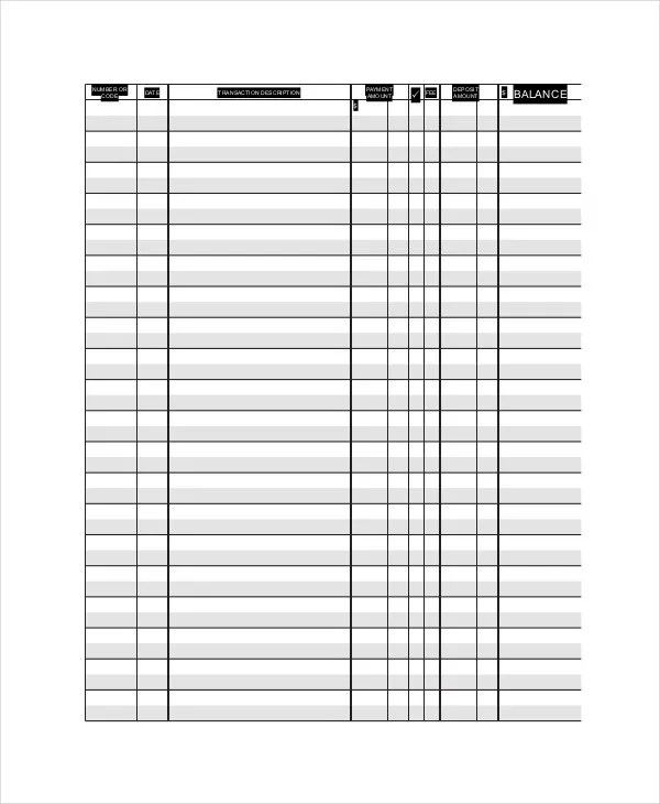 Ledger Paper Template - 7+ Free Word,PDF Document Download Free