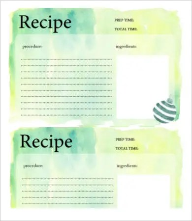 Recipe Card Template - 10+ Free PDF Download Free  Premium Templates