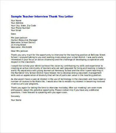 Thank You Letter After Informational Interview thank you letters
