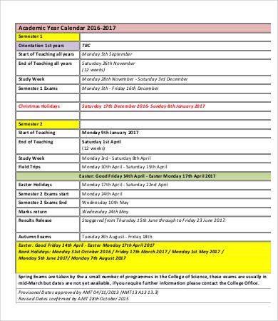 Annual Calendar - 9+ Free Word, PDF Documents Download Free - annual calendar template