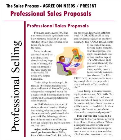 Sales Proposal Template - 9+ Free Sample, Example, Format Free - sales proposal template