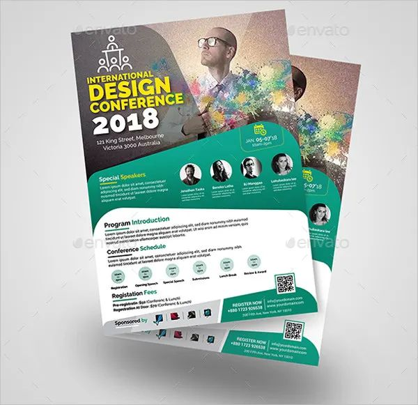 conference flyer designs