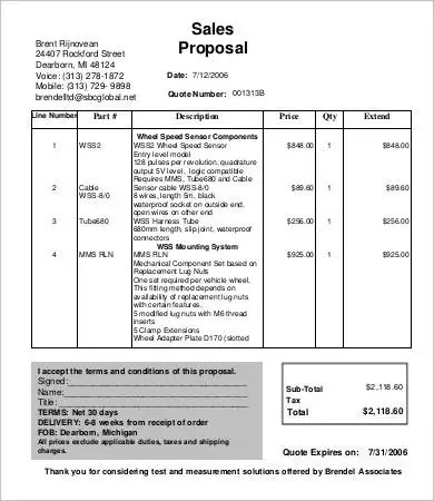 Sales Proposal Template - 9+ Free Sample, Example, Format Free